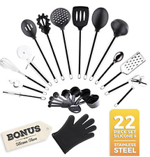 Golden Chef - Premium 22-PIECE Stainless Steel Silicone Cooking Utensils Tools