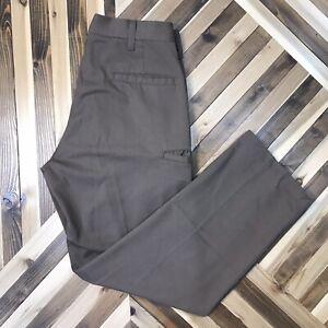 UPS Men's Size 28x28 Brown Uniform Work Pants Postal Wearguard Hemmed Inseam