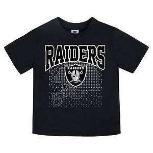NFL Las Vegas Raiders T-Shirt Logo over Helmet Black Short Sleeve SZ 18M Gerber