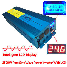 PURE SINE WAVE 2500W MAX 5000W 24V-240V POWER INVERTER CAR CARAVAN CAMPING BOAT