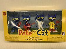Pete The Cat~Toy Figure 4 Pack NEW~Skateboard Guitar Dancing Safety- SHV7