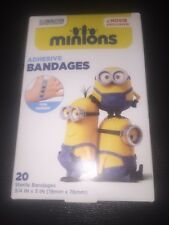 "Minions Antibacterial Bandages Band Aids 20 In Pack Size 3/4""x3"" One Motive New"