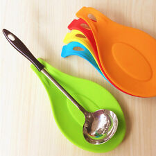 1Pc New Silicone Cooking Spoon Insulation Mat Drink Glass Coaster Tray PL F0X1