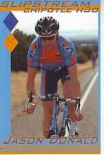 CYCLISME carte cycliste JASON DONALD équipe SLIPSTREAM 2008
