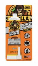 Gorilla Glue 8020002 2 Pack 2.5 oz. Construction Adhesive, White