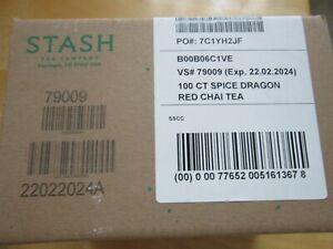 Stash Tea Spice Dragon Red Chai Herbal Tea 100 Count Box of Tea Bags in Foil