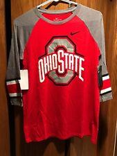 Women's Ohio State Buckeyes Nike 3/4 Sleeve Shirt Size Large