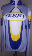 TERRY Precision Cycling Mens Long Sleeve Bicycle Jersey Shirt - Sz Large