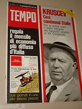 TEMPO=1971/39=NIKITA KRUSCEV=NADIA CASSINI=CARLO UBBIALI GIACOMO AGOSTINI=