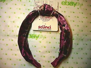 Scunci Headband Magenta Pink Velvet Headband 1 Inch Wide New