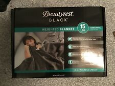 Beautyrest Black Series Weighted Blanket 15 Lb 48 X 72 Grey Brand New
