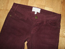 New CURRENT ELLIOTT The Skinny Cords Wine Burgundy Red Jeans 25 UK 6-8 USA 2-4