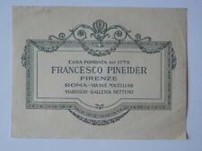 FRANCESCO PINEIDER Firenze Roma Viareggio vecchio biglietto