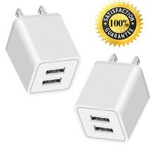 AVIOS Portable 2.4Amp Dual 2-Port USB Wall Charging Travel Power Adapter Comp...