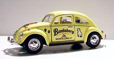 1967 Yellow VW Beetle Bundy Rum Custom Graphics Applied 1:32 Diecast