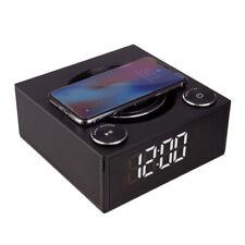 Laser QC002 Alarm Clock Wireless Charging with Bluethooth Speaker