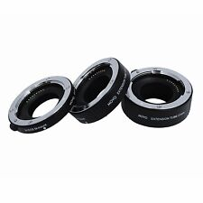 Movo Photo AF Macro Extension Tube Set for Canon EOS-M, M2, M3, M10 Mirrorless C