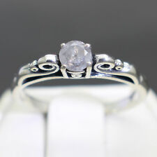 .35cts 4.29mm Natural Fancy Platinum Gray Color Diamond Ring $480 Value Size 7