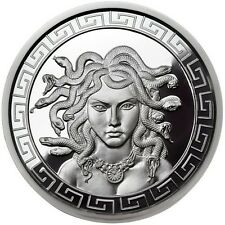Limited 1 OZ PROOF MEDUSA GREEK MYTHOLOGY # RIM w/ COA Silver Snake