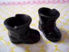 Barbie Kelly Tommy Chelsea Doll No Clothes *One Pair Black Santa Boots Shoes*