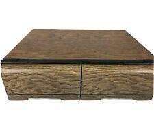 VCR VHS Drawer Media Cabinet Organizer Storage Box Wood Grain Look