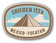Chichen Itza Mexico Vintage Label Car Bumper Sticker Decal 5'' x 4''