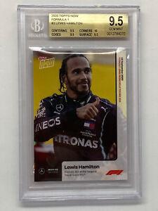 Lewis Hamilton 2020 Topps Now Rookie Card #3 Formula 1 F1 BGS True Gem 9.5 w/ 10