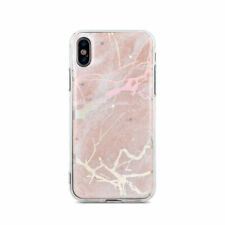 "Apple iPhone 7 4,7"" Rosa Marmoriert TPU Stein Muster Hülle Case Tasche Bling"