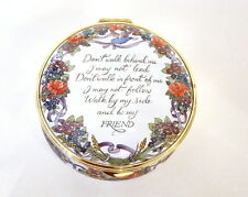 Staffordshire Enamel Box - Walk By My Side and Be My Friend