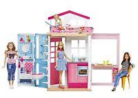 Mattel Barbie Spielset 2 Etagen Haus mit Barbie DVV48 NEU OVP