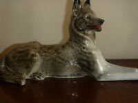 Porcelain German Shepard dog LFZ Made in USSR Lomonosov Factory  60-s