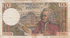 Billet banque 10 Frs VOLTAIRE 03-02-1972 G Y.744 état voir scan