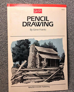 WALTER FOSTER PENCIL DRAWING By Gene Franks 1988 64 PAGES/ PRE OWNED