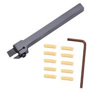 10pcs MGMN200 Inserts Blades + 1pc MGEHR1010-2 Turning Tool Holder Boring Bar