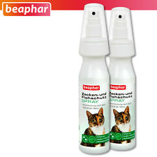 Beaphar 2 x 150 ML Ticks And Flea Protection Spray for Cats