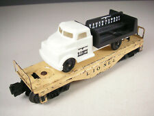 Lionel 6151 Flatcar with REPRO Lionel Ranch 'Range Patrol' truck, VG-