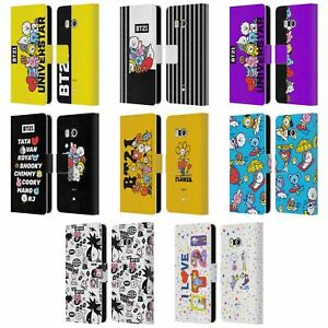 OFFICIAL BT21 LINE FRIENDS THE GANG LEATHER BOOK WALLET CASE FOR HTC PHONES 1
