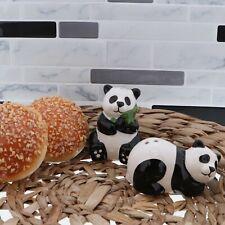 Panda Bear Salt & Pepper Shakers Set Cute White & Black Bear Collectible Shakers