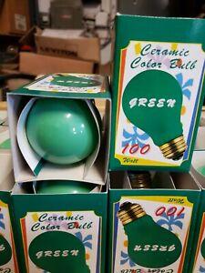 Bulbrite 100 Watt Incandescent A19 Ceramic Green Standard Base