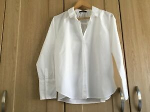 Autograph  white supina cotton blouse with back detail size 14