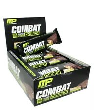 Muscle Pharm - Gluten-Free Combat Crunch Bars Box Chocolate Peanut Butter - 12