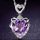 Love regali per lei Blu & cristallo viola diamante a Cuore Collane Wife (MOGLIE)