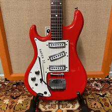 Vintage 1960s Watkins Rapier 33 Red Left Handed Lefty Electric Guitar w/ Whammy