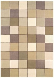 Eden Beige Natural Classic Affordableable Geometric Blocks Acrylic Living...