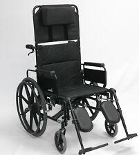 "20"" Extra Wide Full Armrests Lightweight Reclining Wheelchair Recliner KM5000F20"