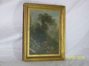 Hudson River School Landscape Original Oil On Canvas Antique19th Painting Framed