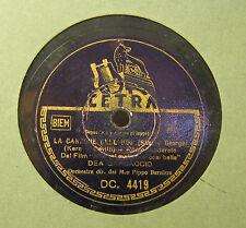 Disco Grammofono 78 Giri Vintage Cetra - La Canzone Dell'Hop - Dea Garbaccio