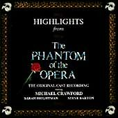 PHANTOM OF THE OPERA Highlights From CD German Polydor 1987 14 Track West