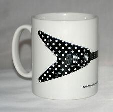 Guitar Mug. Randy Rhoads' Polka Dot Flying V illustration