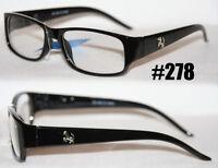 Nerd Brille Damen + Herren sportliche Modebrille Klarglas schwarz o. braun 278